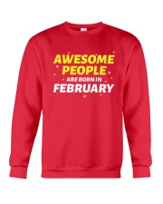 Awesome People Are Born In february Crewneck Sweatshirt thumbnail