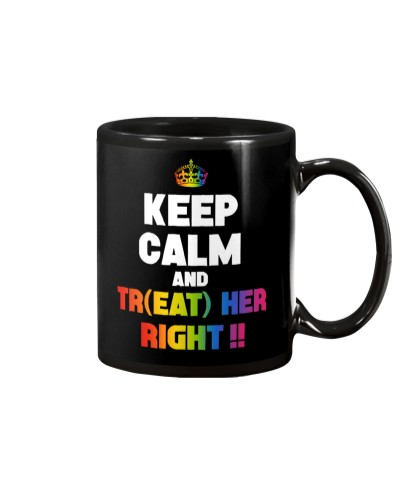 TREAT HER RIGHT LGBT SHIRT GAY SISTER PRIDE