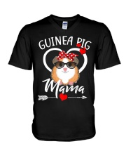 Guinea Pig Mama Mothers Day Gift  V-Neck T-Shirt thumbnail