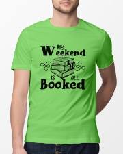 My Weekend Is All Booked Funny Reading Book Lover Classic T-Shirt lifestyle-mens-crewneck-front-13