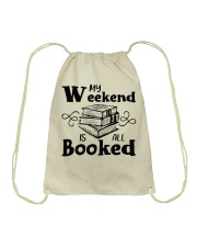 My Weekend Is All Booked Funny Reading Book Lover Drawstring Bag thumbnail