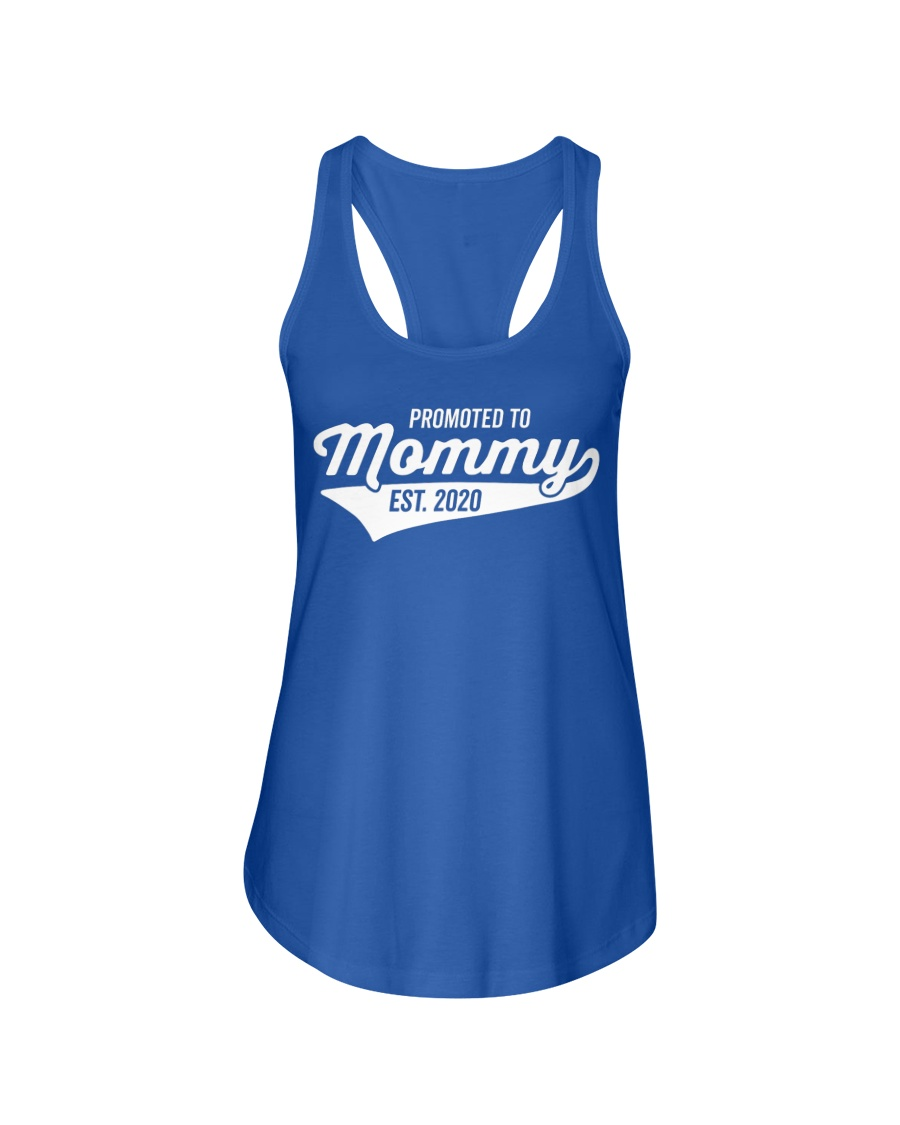 Promoted to Mommy 2020 First Mothers Day Ladies Flowy Tank