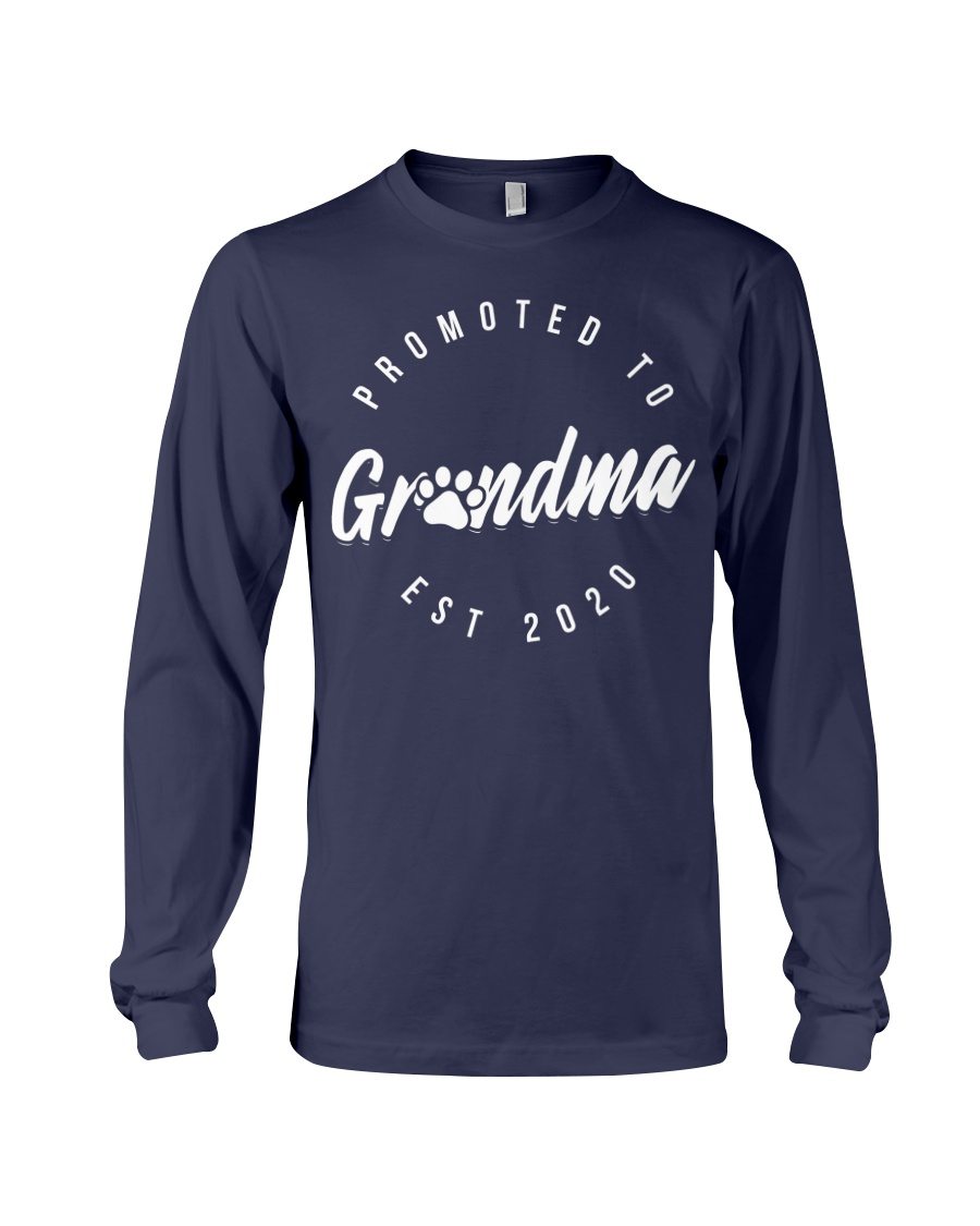 Promoted To Dog Grandma 2020 Mothers Day Long Sleeve Tee