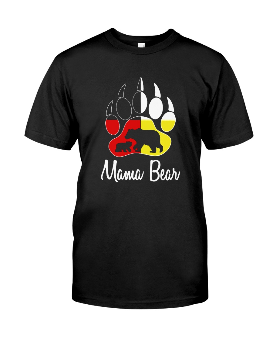 Mama Bear Plaid O-Neck Classic T-Shirt
