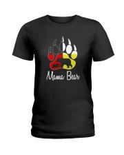 Mama Bear Plaid O-Neck Ladies T-Shirt thumbnail