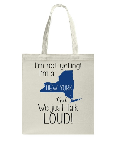 I'm not yelling I'm a New York girl We just talk