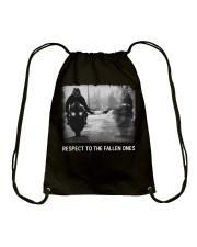 Respect to the fallen ones  Drawstring Bag thumbnail