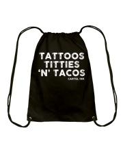 Tattoos Titties 'N' Tacos Cartel Ink Drawstring Bag thumbnail