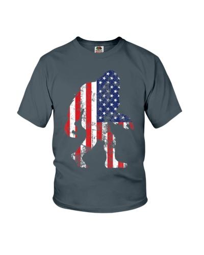Bigfoot 4th Of July Patriotic USA Flag