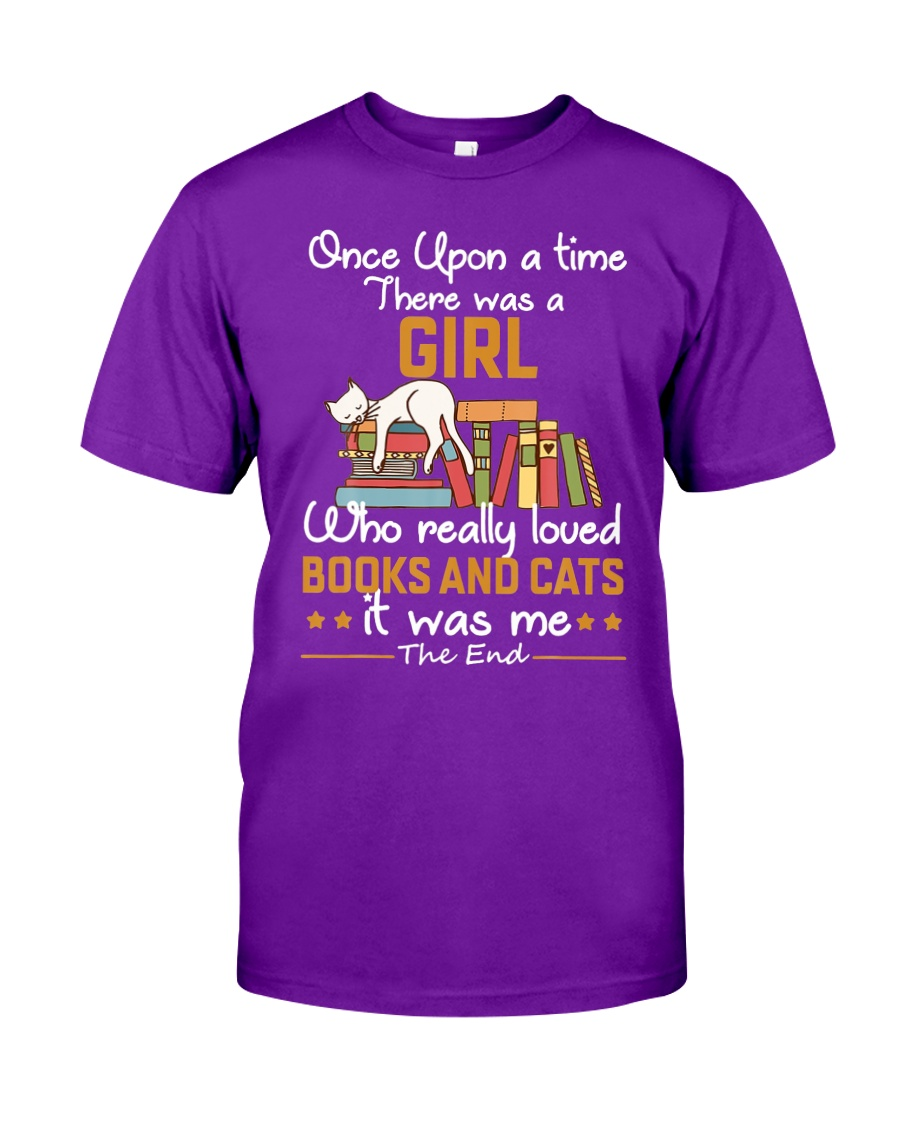There was girl who really loved books cats Classic T-Shirt