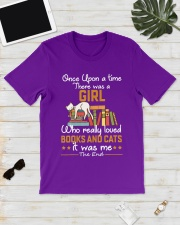 There was girl who really loved books cats Classic T-Shirt lifestyle-mens-crewneck-front-17
