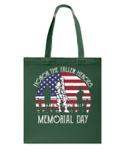Honor the fallen heroes memorial day US Flag Tote Bag thumbnail