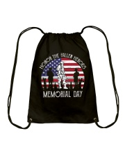 Honor the fallen heroes memorial day US Flag Drawstring Bag thumbnail