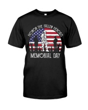 Honor the fallen heroes memorial day US Flag Classic T-Shirt front