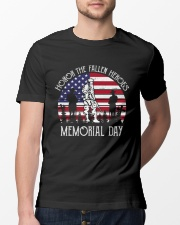 Honor the fallen heroes memorial day US Flag Classic T-Shirt lifestyle-mens-crewneck-front-13