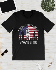 Honor the fallen heroes memorial day US Flag Classic T-Shirt lifestyle-mens-crewneck-front-17