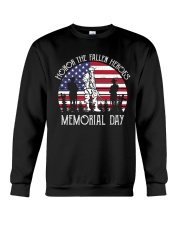 Honor the fallen heroes memorial day US Flag Crewneck Sweatshirt thumbnail