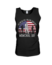 Honor the fallen heroes memorial day US Flag Unisex Tank thumbnail