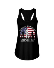 Honor the fallen heroes memorial day US Flag Ladies Flowy Tank thumbnail