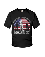 Honor the fallen heroes memorial day US Flag Youth T-Shirt thumbnail
