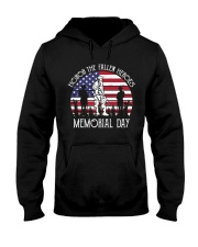 Honor the fallen heroes memorial day US Flag Hooded Sweatshirt thumbnail