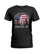 Honor the fallen heroes memorial day US Flag Ladies T-Shirt thumbnail