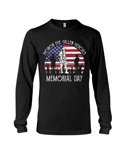 Honor the fallen heroes memorial day US Flag