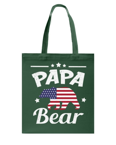 4th Of July Papa Bear Patriotic Flag Matching