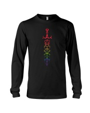 DND rainbow dice set sword slaying dragons dungeon Long Sleeve Tee thumbnail