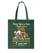 There was girl who really loved books cats Tote Bag thumbnail
