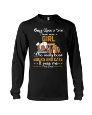 There was girl who really loved books cats Long Sleeve Tee thumbnail