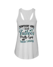 Kentucky Girl With Tattoos Pretty Eyes Ladies Flowy Tank tile