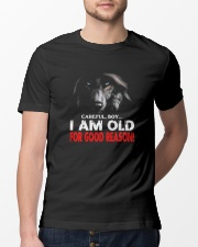 Wolf careful boy I am old for good reason Wolf Classic T-Shirt lifestyle-mens-crewneck-front-13
