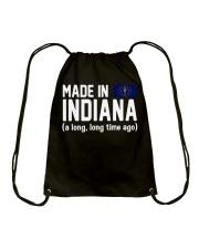 Made in Indiana a long long time ago Drawstring Bag thumbnail