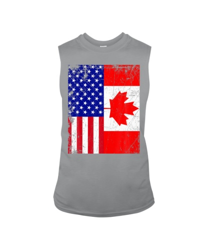 Canadian American USA Canada Flag 4th of July