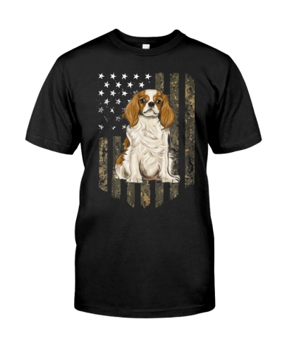 Flag Cavalier King Charles Spaniel 4th Of July