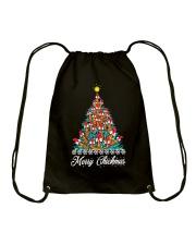 Merry Chickmas Chicken Christmas tree funny X-mas Drawstring Bag thumbnail