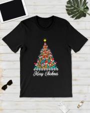 Merry Chickmas Chicken Christmas tree funny X-mas Classic T-Shirt lifestyle-mens-crewneck-front-17