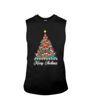 Merry Chickmas Chicken Christmas tree funny X-mas Sleeveless Tee thumbnail
