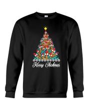 Merry Chickmas Chicken Christmas tree funny X-mas Crewneck Sweatshirt thumbnail