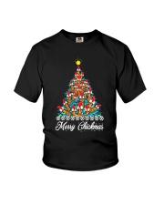Merry Chickmas Chicken Christmas tree funny X-mas Youth T-Shirt thumbnail