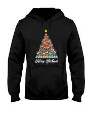 Merry Chickmas Chicken Christmas tree funny X-mas Hooded Sweatshirt thumbnail