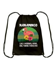 Nanamingo nana flamingo funny definition Drawstring Bag thumbnail