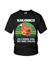 Nanamingo nana flamingo funny definition Youth T-Shirt thumbnail