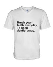 Brush your Teeth Everyday V-Neck T-Shirt thumbnail