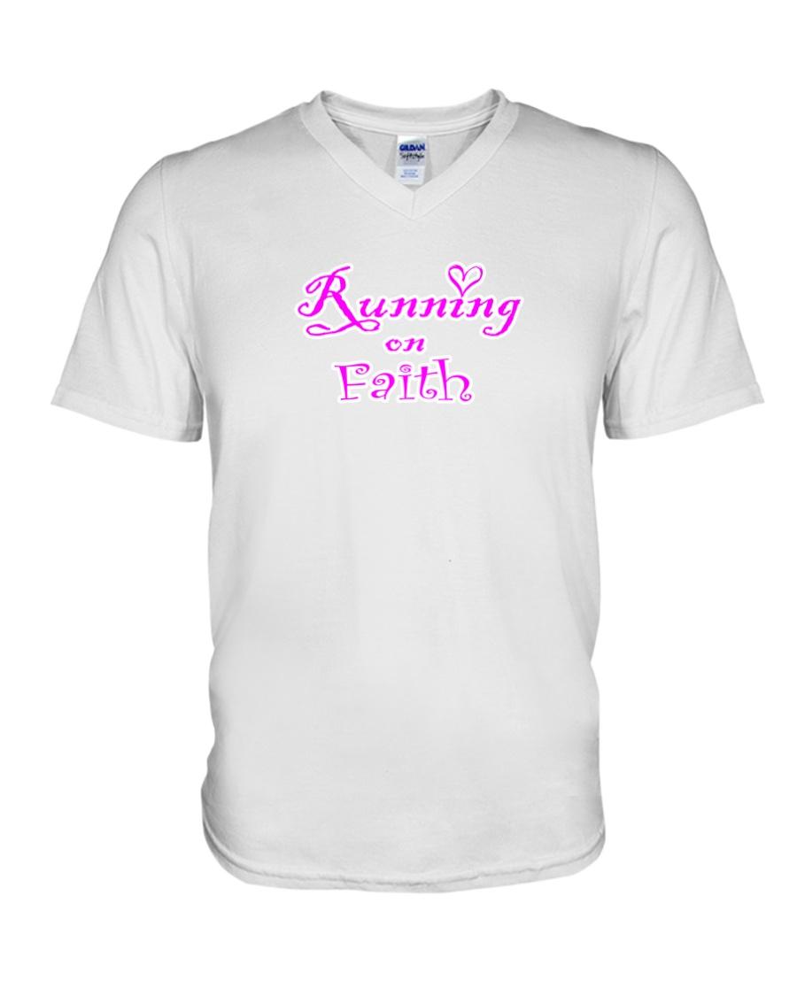 Running on Faith V-Neck T-Shirt