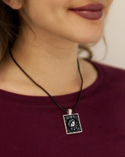 Win or Die - Dragon's Eye  Cord Rectangle Necklace aos-necklace-square-cord-lifestyle-1