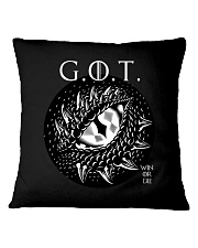 Win or Die - Dragon's Eye  Square Pillowcase thumbnail