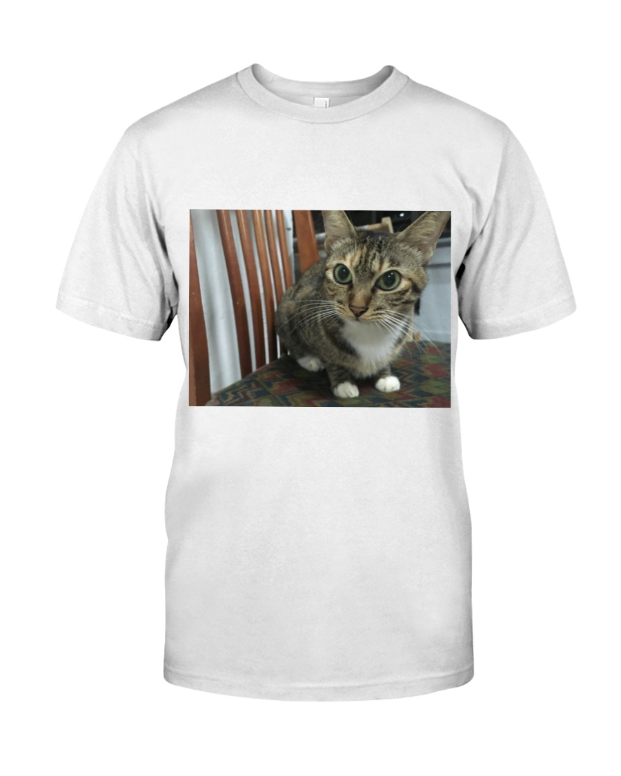 Ferra The Cat Sitting On a Chair Premium Fit Mens Tee
