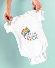 Rainbow Flag My First Pride Babygrow Baby Onesie garment-baby-onesie-lifestyle-front-03